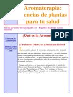 Aromaterapia y Plantas Medicinales