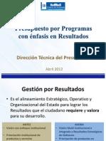 Presupuesto x Programas Con Enfasis Resultados