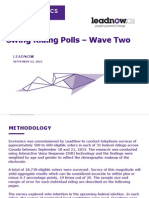 Environics - Leadnow Swing Riding Poll Wave Two Report - Sept 22