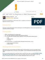 ASP.net MVC for Begginners in Web