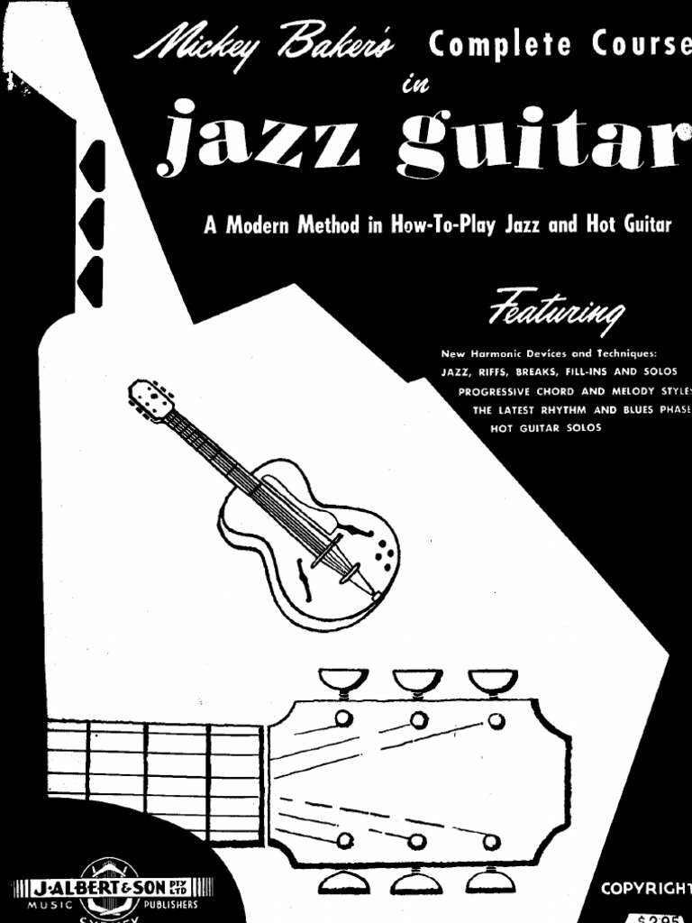 Book 1 Mickey Baker/'s Complete Course In Jazz Guitar