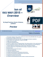 ISO 9001:2015 Overview. Presentation for Training (Preview)