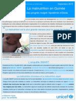 La Malnutrition en Guinée_Bulletin Septembre 2015