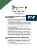 Alabama Motor Veicle Division Rulebook