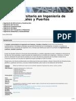 Máster Universitario en Ingeniería de Caminos, Canales y Puertos (ETSECCPB)