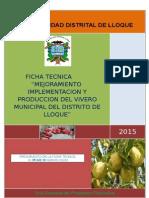 FICHA TECNICA Mejoramiento e Implementacion Del Vivero Municipal
