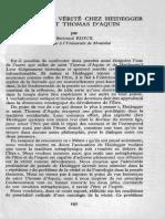 B. Rioux - La Notion de Verite Chez Heidegger Et Saint Thomas d'Aquin