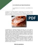 Quemaduras en Alimentos Por Bajas Temperaturas