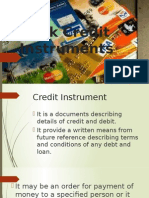 Bank Creddit Instruments