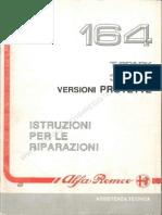 Alfa Romeo  164 Istruzioni Per Le Riparazioni