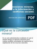 Concesiones mineras, derecho a la información y