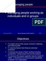 managing people working as individuals and in groups