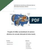 Pesquisas de Falhas Em Instalações de Motores Electricos de CA Bt