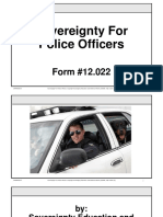 Sovereignty for Police Officers, Form #12.022
