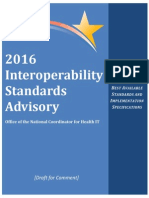 ONC Draft 2016 Interoperability Standards Advisory