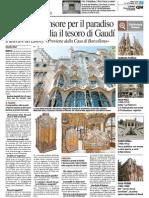23.9.2015, 'Batlló, l'Ascensore Per Il Paradiso Trovato in Italia Il Tesoro Di Gaudí', QN Il Caffè