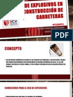 Diapositivas de Uso de Explosivos en Construcción de Carreteras