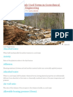 160 Most Commonly Used Terms in Geotechnical Engineering