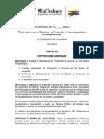 Proyecto Ley Exposicion Motivos Mecanismo Desempleo