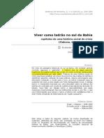 Viver Como Ladrão No Sul Da Bahia (Revista de História Da UFBA)
