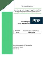 M05 D Termination Des Temps de Fabrication-FM-TSMFM