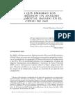 Por Qué Migran Colombianos Censo 2005