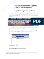 operaciones polinomio