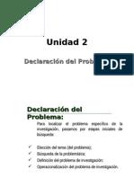 Declaracion Del Problema Seminario de Investigacion