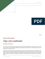 Ignacio Ramonet. Algo Está Cambiando. El Dipló. Edición Nro 181. Julio de 2014