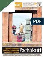 Especial Posesión Evo en Tiwanaku 22-01-15