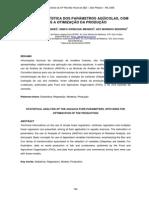 Análise Estatística Dos Parâmetros Aqüicolas