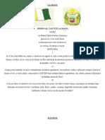 Cantones de Latacunga Himnos, Banderas y Escudos