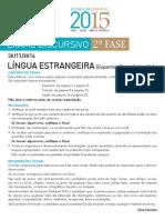 2015 Lingua Estrangeira - UERJ