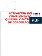 69929001 Activacion Del Complemento Quinina y Factores De