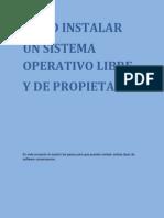 Manual de instalación de un software libre y de propietario