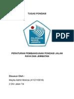 Peraturan Pembangunan Pondasi Jalan Raya Dan Jembatan