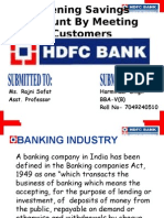 HDFC  Savings Account PPT