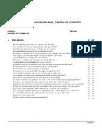 Checklist Deteccion de Icendios Centro Computo