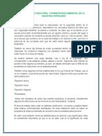 Seguridad Industrial y Normatividad Ambiental en La Industria Petrolera