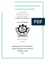 a study on use of waste polyethylene in bituminous paving mixing