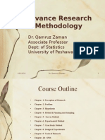 Advance Research Methodology(MBA General, 1st semester) by Dr. Qamar Zaman
