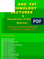 Oil and Fat Technology Lectures I