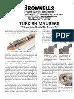 Turkish Mauser Info