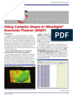 Complex Slopes in MSEP