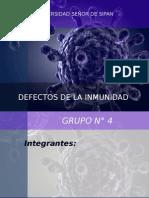 Defectos de La Inmunología Especificas e Inespecificas - Diapositivas