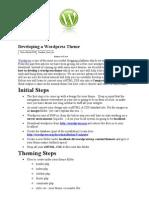 Developing a Wordpress Theme