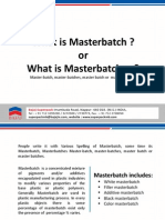 what is masterbatches