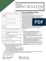 ES Parent Bulletin Vol#4 2015 September 24