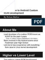 Introduction to Android Custom ROM Development - Illinois Splash Presentation
