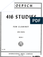 416 Studies for Clarinet - Kroepsch